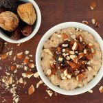 Brown Rice Pudding with Dried Fruit Compote