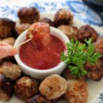 Swedish Turkey Meatballs with Lingonberry Dipping Sauce