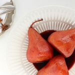 Port-Poached Pears in Syrup